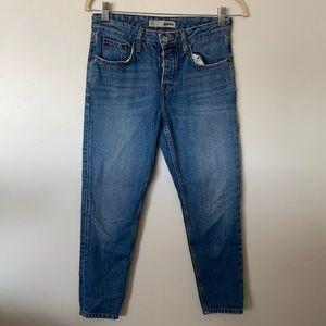 Topshop Mom Jeans Size 25 Petite Moto